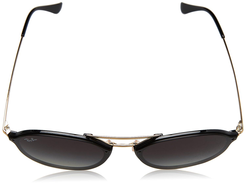 Amazon.com  Ray-Ban 0rb4292n601 1162blaze Doublebridge Square Sunglasses  BLACK 62 mm  Clothing 6c49337e9b
