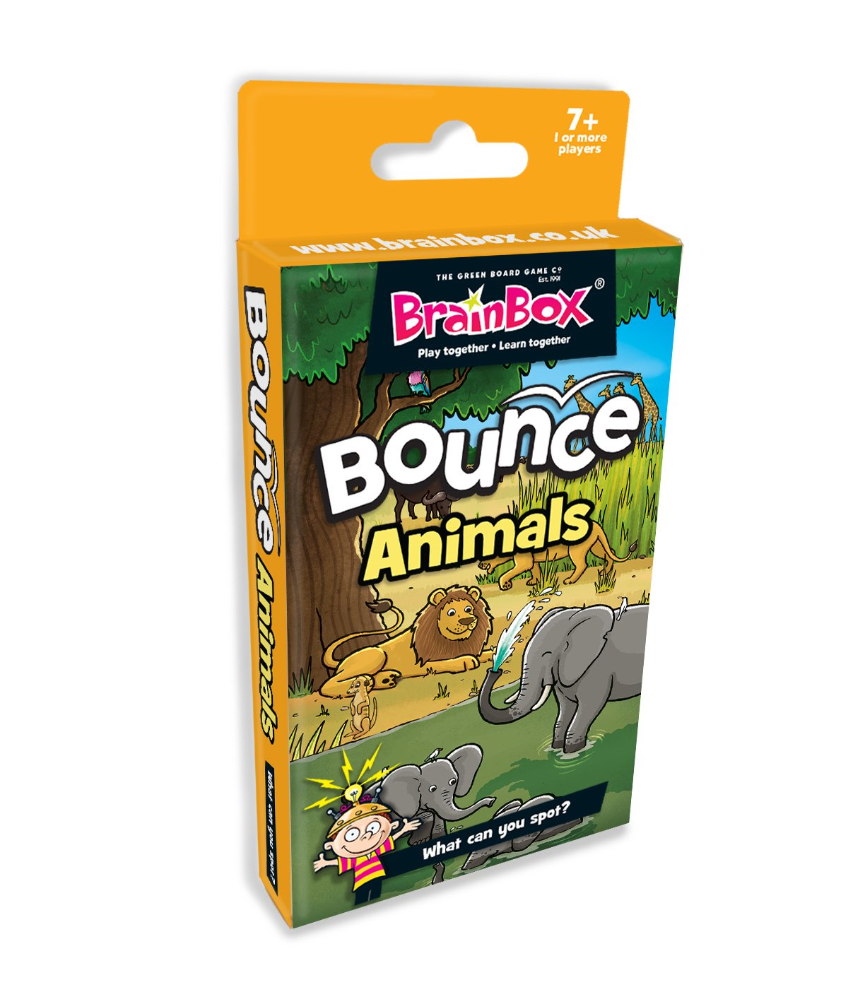 BrainBox Hinchable Juego de Cartas Animales: Amazon.es ...