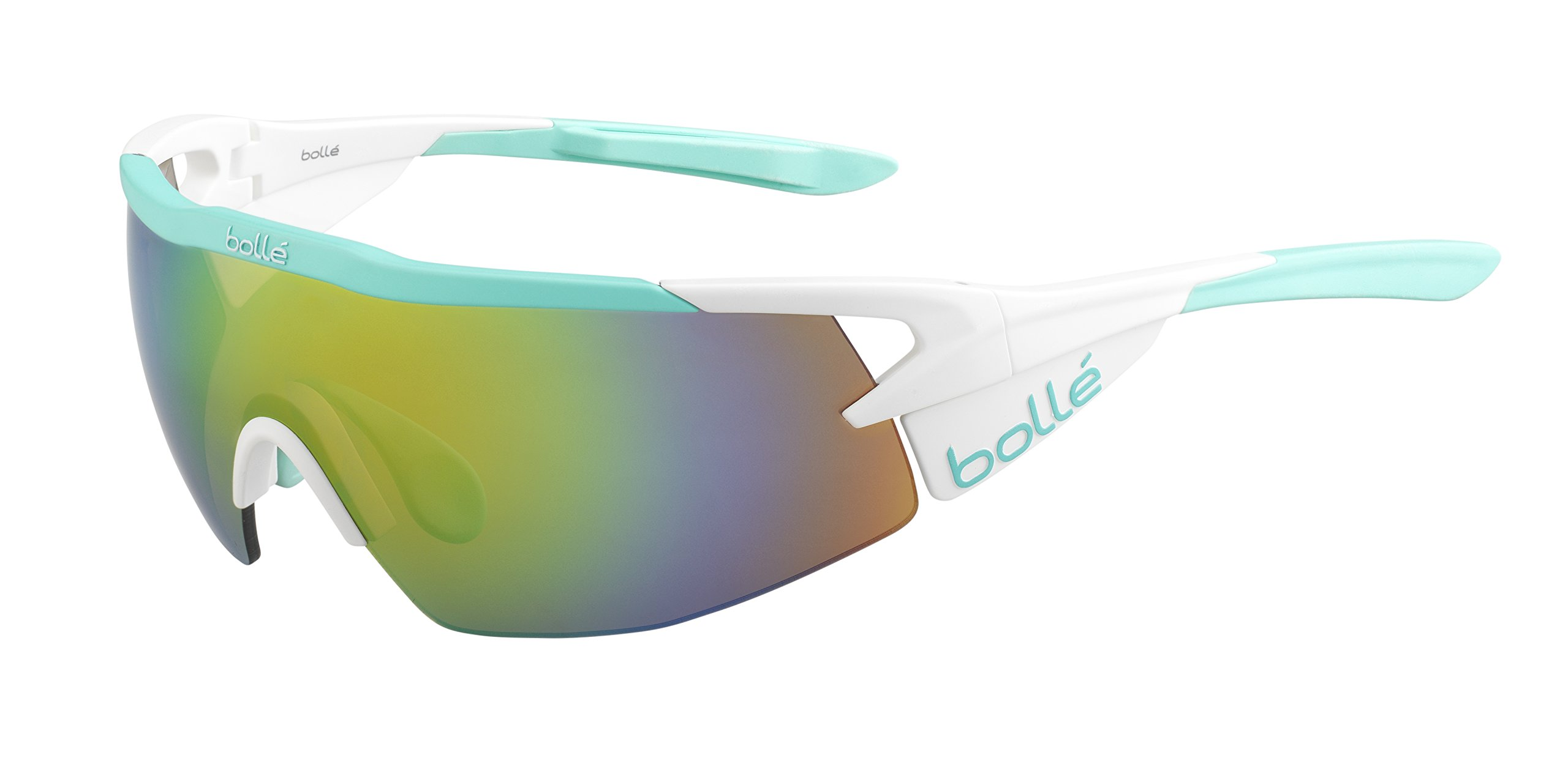 Bolle Aeromax Sunglasses Matte White/Mint, Multi by Bolle