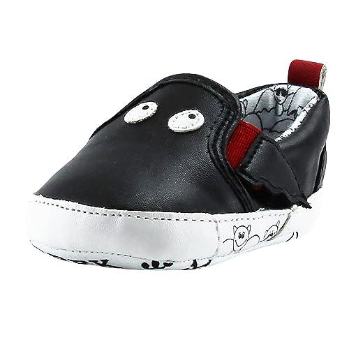 b367cad1ab5c Rosie Pope Black Bat Slip-On Gym Shoes 3-6 Months Infant Crib Shoes