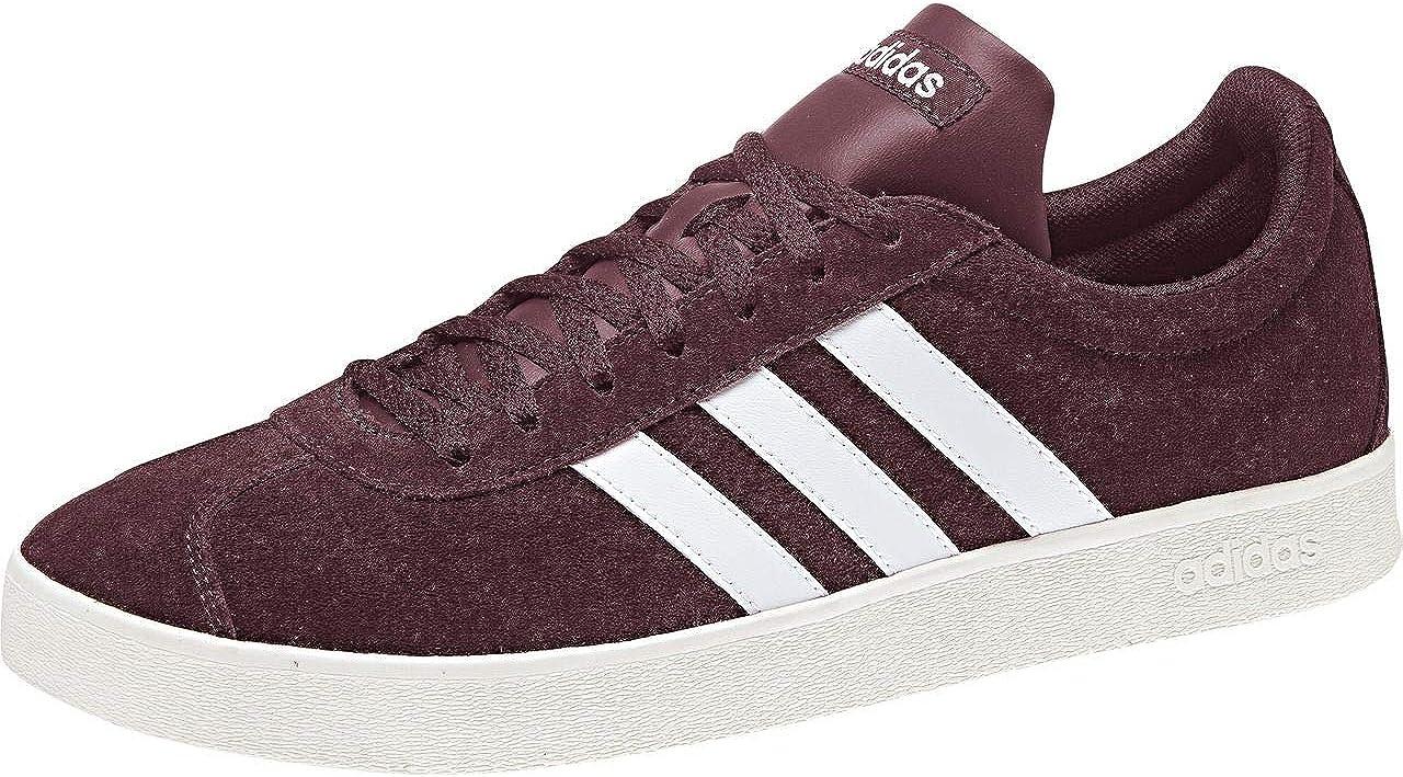 adidas VL Court 2.0, Zapatillas de Skateboarding para Hombre, Rojo (Granat/Ftwbla/Blanub 0), 43 1/3 EU