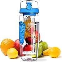 OMORC 32oz/1L Fruit Infuser Water Bottle Leak Proof BPA Free for Sports, Outdoor