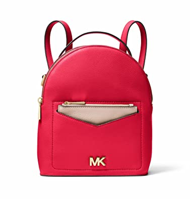 e699799d07fc1b Amazon.com: MICHAEL Michael Kors Jessa Small Pebbled Leather Convertible  Backpack (Deep Pink): Shoes
