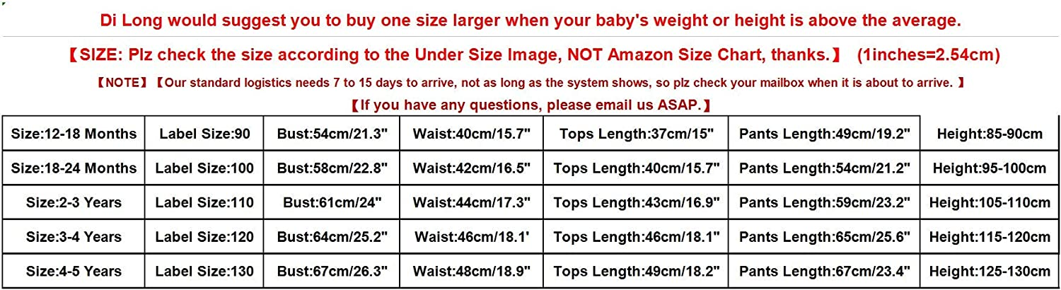 Dinlong 2Pcs Baby Girls Boy Clothes Christmas Deer Print Tops Solid Pants Outfit