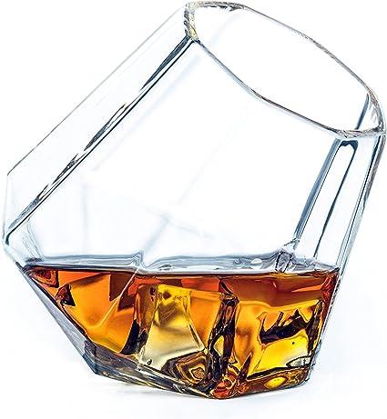 BALANSOHO inclinación Whisky cristal diamante vasos 10 oz ...