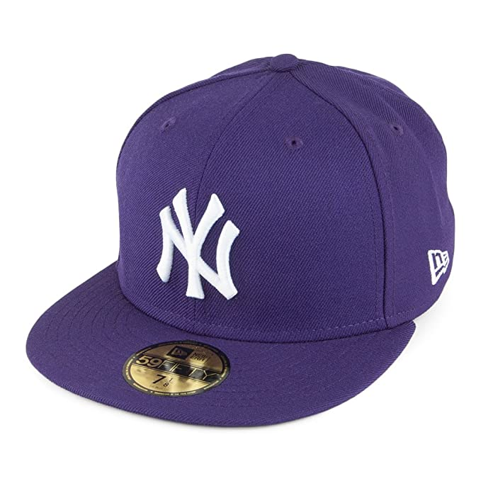 Gorra de béisbol 59FIFTY League New York Yankees de New Era - Púrpura - 6 7/8: Amazon.es: Ropa y accesorios