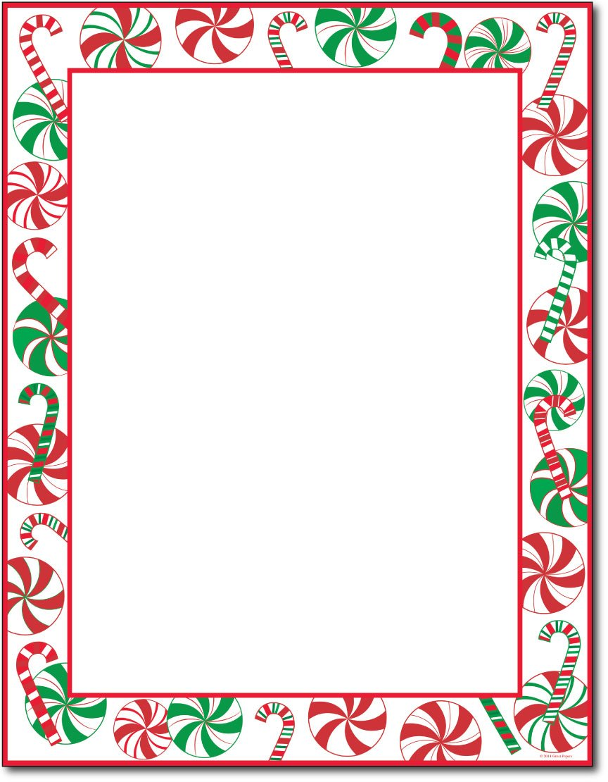 It is a graphic of Current Printable Santa Stationary