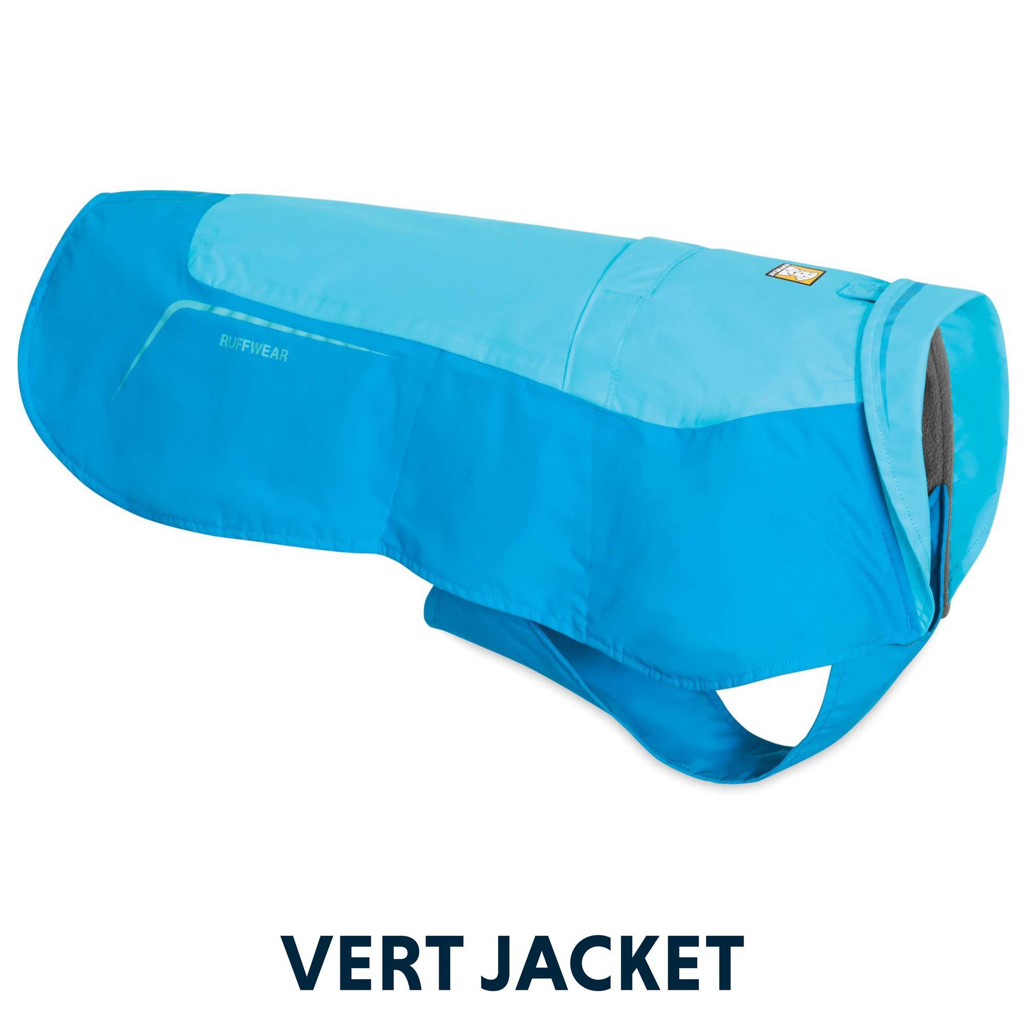 RUFFWEAR - Vert Waterproof Fleece Jacket for Dogs, Blue Atoll, Medium