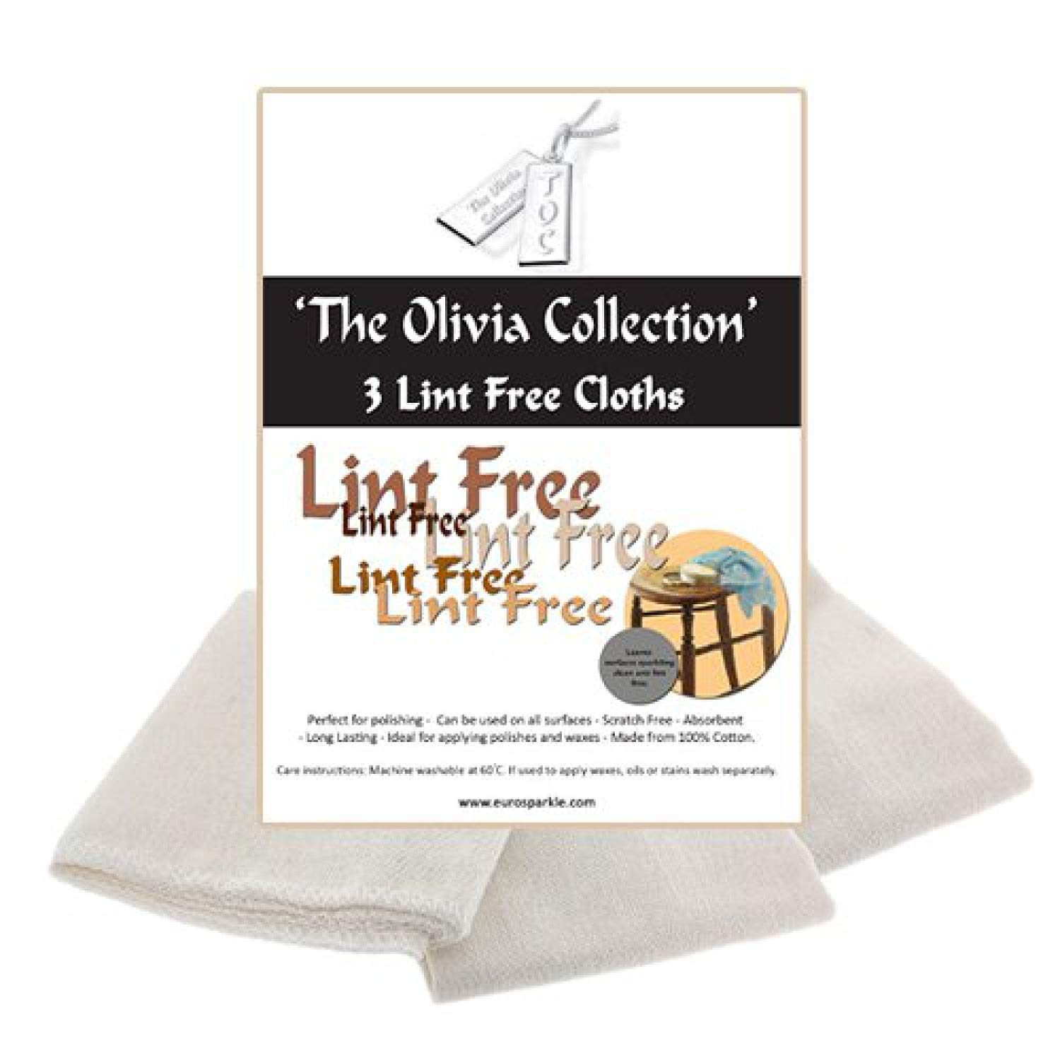 The Olivia Collection TOC Lint Free Cleaning & Polishing Cloths - Pack of 3, 505mm x 340mm Direct Diamond Centre SC226