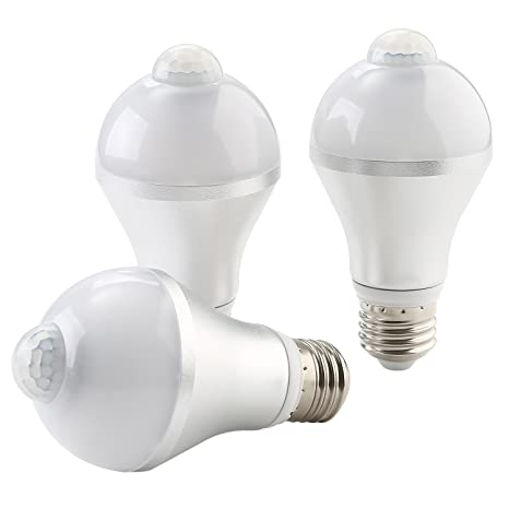 NONMON Bombillas Sensor Movimiento LED E27 9W Luz Inteligente Infrarrojo Detección, Lámparas para Escaleras Casa