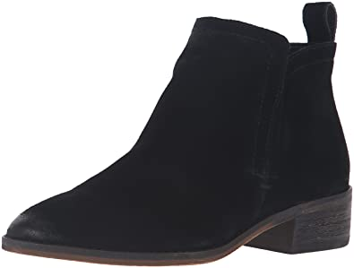 Dolce Vita Women's Tessey Ankle Bootie, Onyx Suede, ...