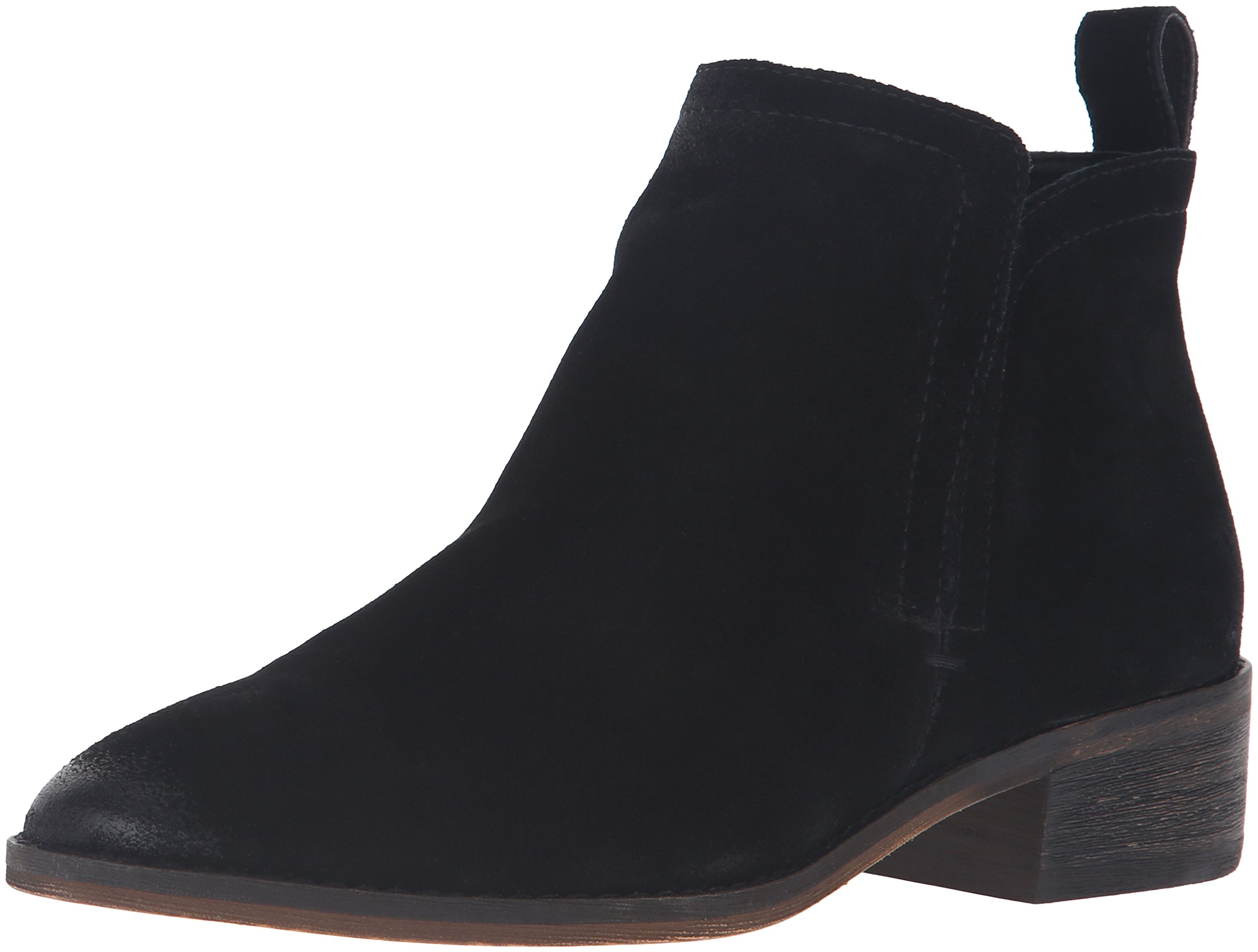 Dolce Vita Women's Tessey Ankle Bootie, Onyx Suede, 7 UK/7 M US