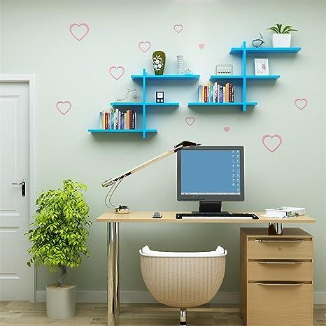 Muro creativo pintar paredes decoradas salón rack estanterías mampara creativo, azul: Amazon.es: Hogar