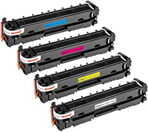 TIANSE Compatible Toner Cartridge Replacement for HP 204A M180nw CF510A Toner for HP Color Laserjet Pro MFP M180nw M154nw M180n M154a Pro MFP M181fw Printer CF511A CF512A CF513A Toner Ink -4Packs