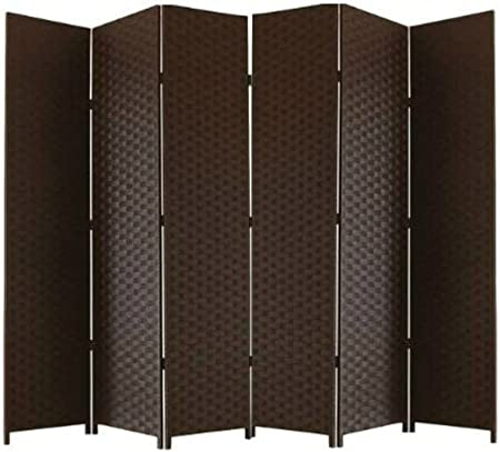 Ballino - Biombo de mimbre macizo hecho a mano, 4PANEL DARK BROWN LTP034: Amazon.es: Hogar