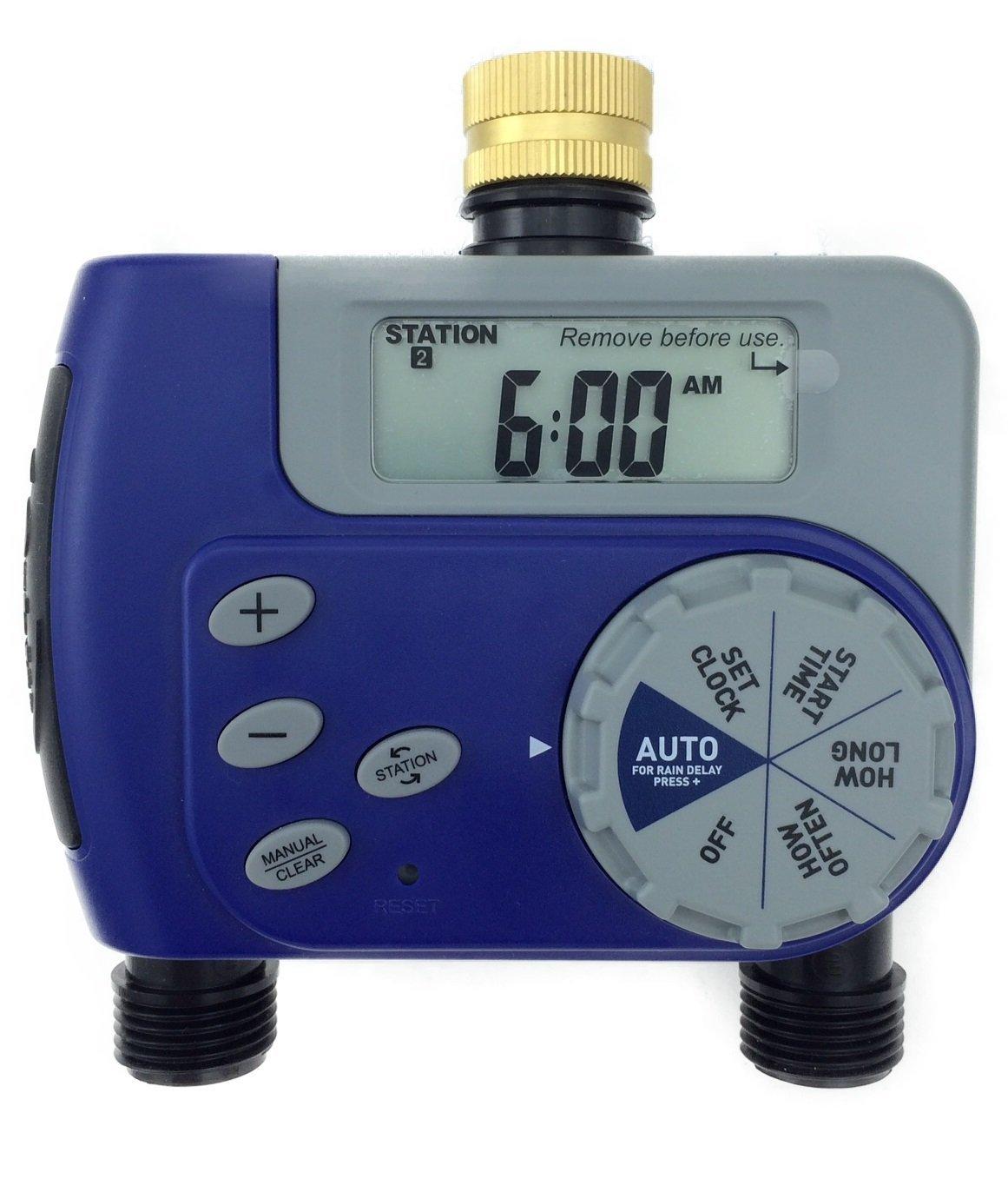 10 Pack - Orbit 1-Dial 2-Port Hose Faucet Water Timer