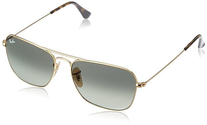 cfa75451de Ray-Ban 0RB3136 - anteojos de sol rectangulares para hombre, Dorado, 55 mm