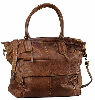 begehrte Auswahl an Sonderteil Super günstig BZNA Bag Boney cognac Italy Designer Damen Handtasche Schultertasche Tasche  Leder Shopper Neu
