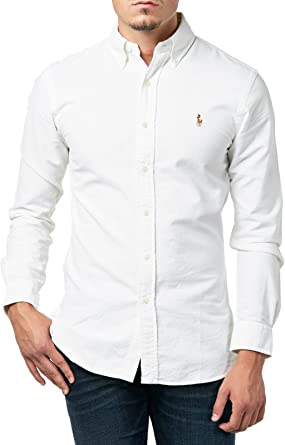 Polo Ralph Lauren Slim Ft BD Ppc White Camisa Casual para Hombre