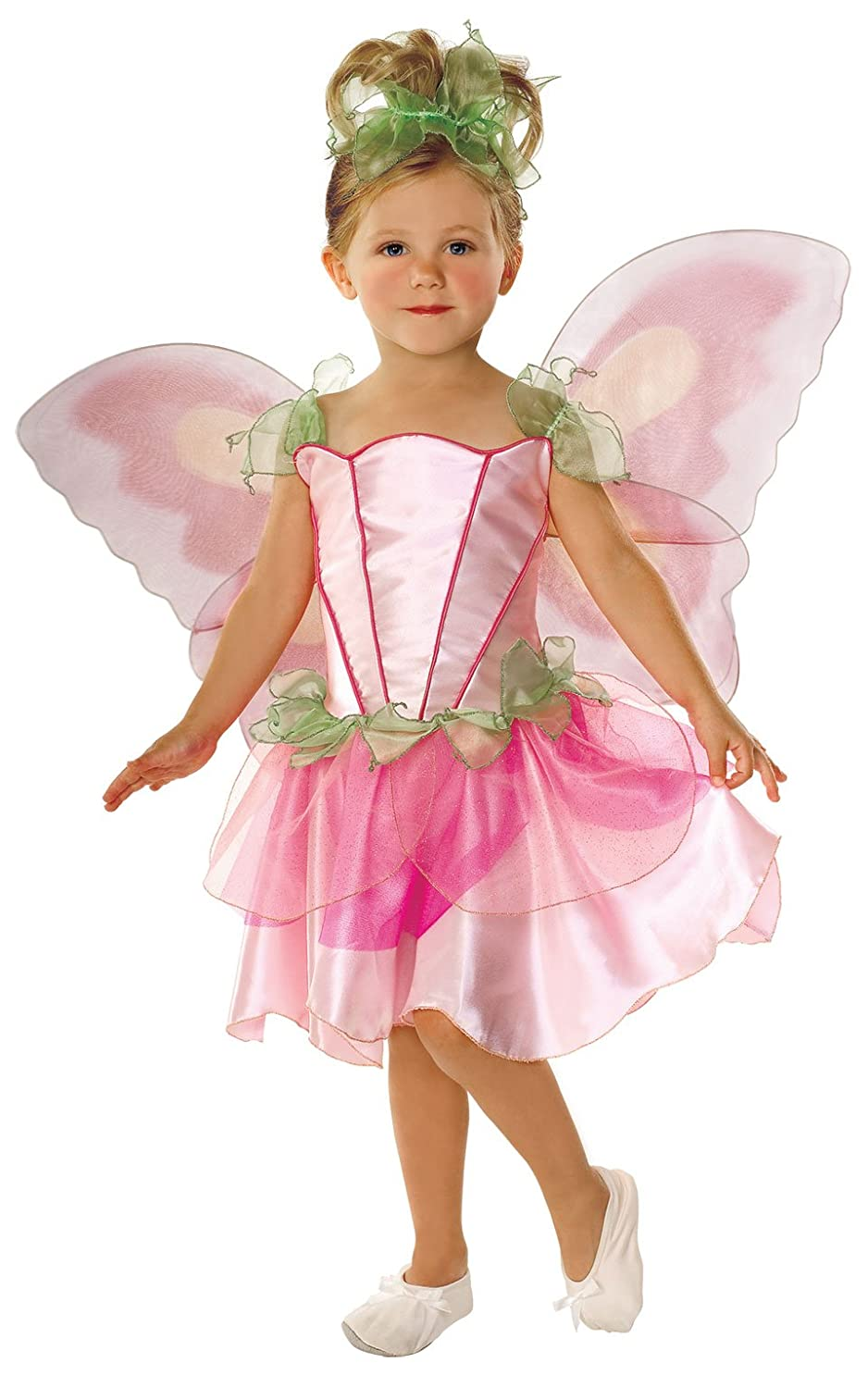 Domestic 882730S Lets Pretend Childs Springtime Fairy Costume with Wings Small Rubies
