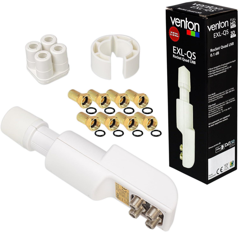 Hb Digital Quad Lnb Weiss White Nur 0 1 Db Testsieger Elektronik