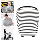 YOOFOSS Nursing Breastfeeding Cover Scarf - Baby Car Seat Canopy, Shopping Cart, Stroller, Carseat Covers for Girls and Boys - Best Multi Use Infinity Stretchy Shawl