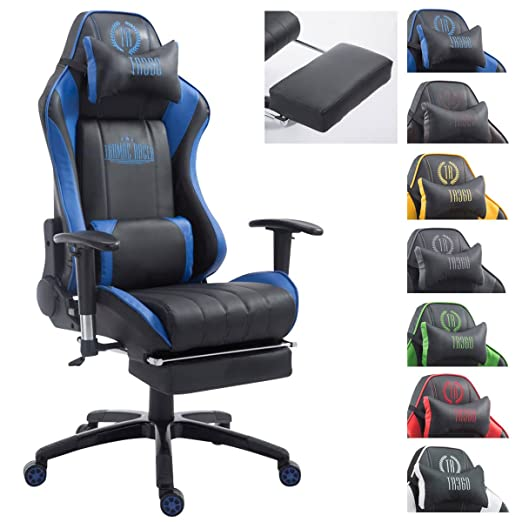 CLP Silla Gaming XL Shift X2 Tapizada En Cuero PU I Silla Gamer Ergonómica & con 2 Cojínes I Silla Racing con Reposabrazos Regulables I Color: ...