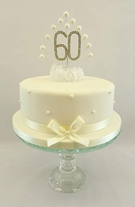 Swell Cake Topper Pearl Burst Decoration Spray Diamante 60Th Birthday Funny Birthday Cards Online Bapapcheapnameinfo