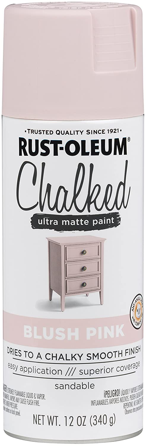 Rust-Oleum Series Rustoleum 302594 12OZ Blush Pink Chalked Paint Spray,