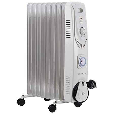 c33f57b1eed Zennox Oil Filled Radiator 2000W 9-Fin Portable Electric Heater 3 Heat  Settings with Adjustable
