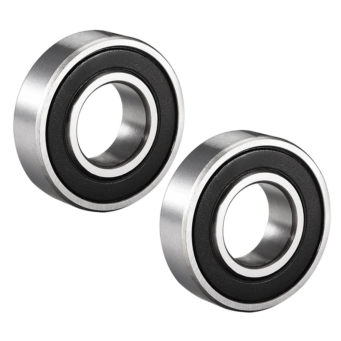 sourcing map 6000-2RS Ball Bearing 10mm x 26mm x 8mm Double Sealed 180100 Deep Groove Bearings Pack of 10 Carbon Steel
