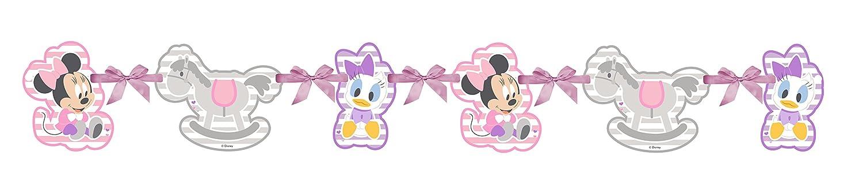 Procos 85582 - Filare Silhouette Banner Baby Minnie & Daisy, 110 cm, Rosa/Bianco Ciao SRL