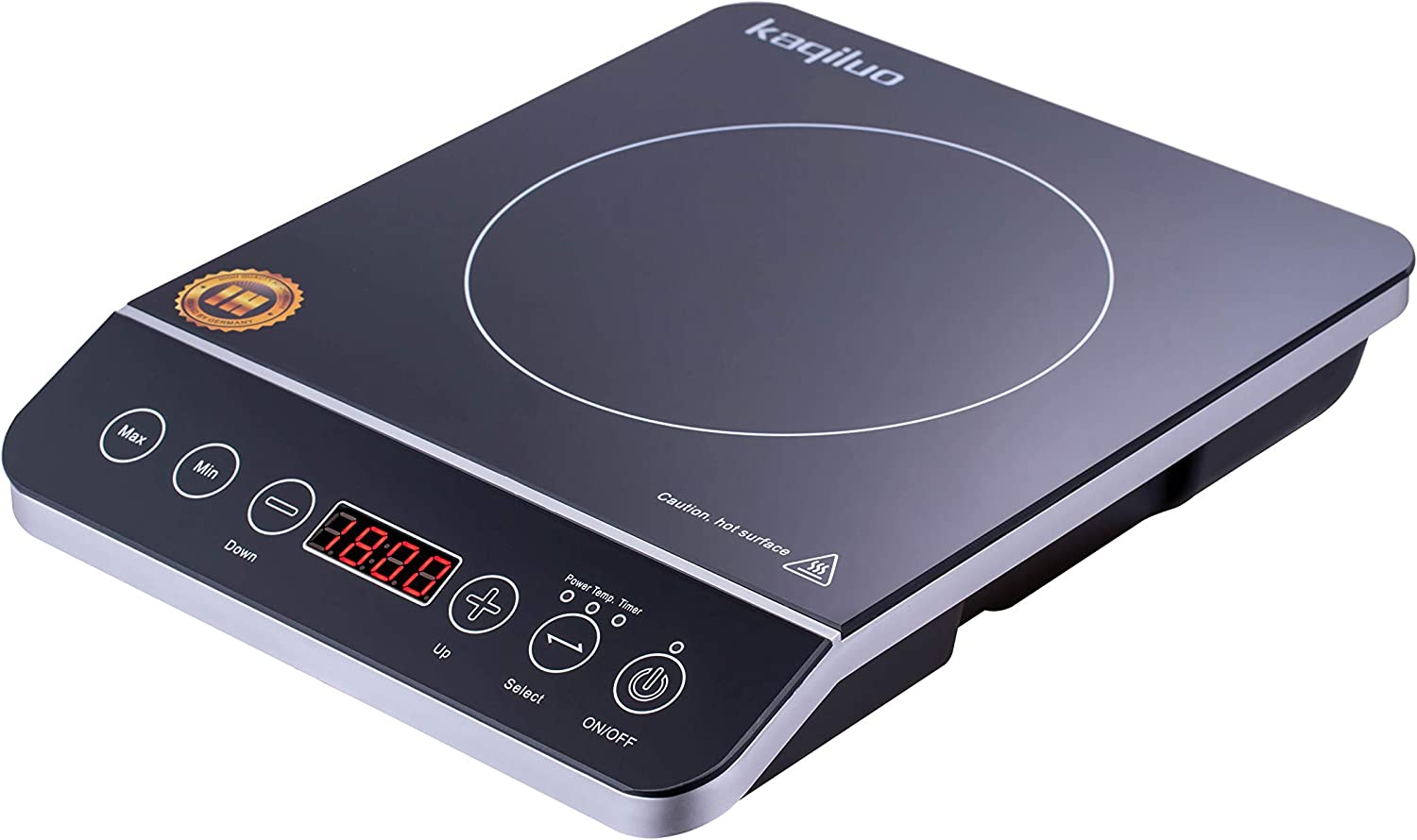 Kaqiluo Portable 1800W Max Touch Induction Cooker, With Multiple Power Settings And Temperature Settings, 3-Hour Timer Burner