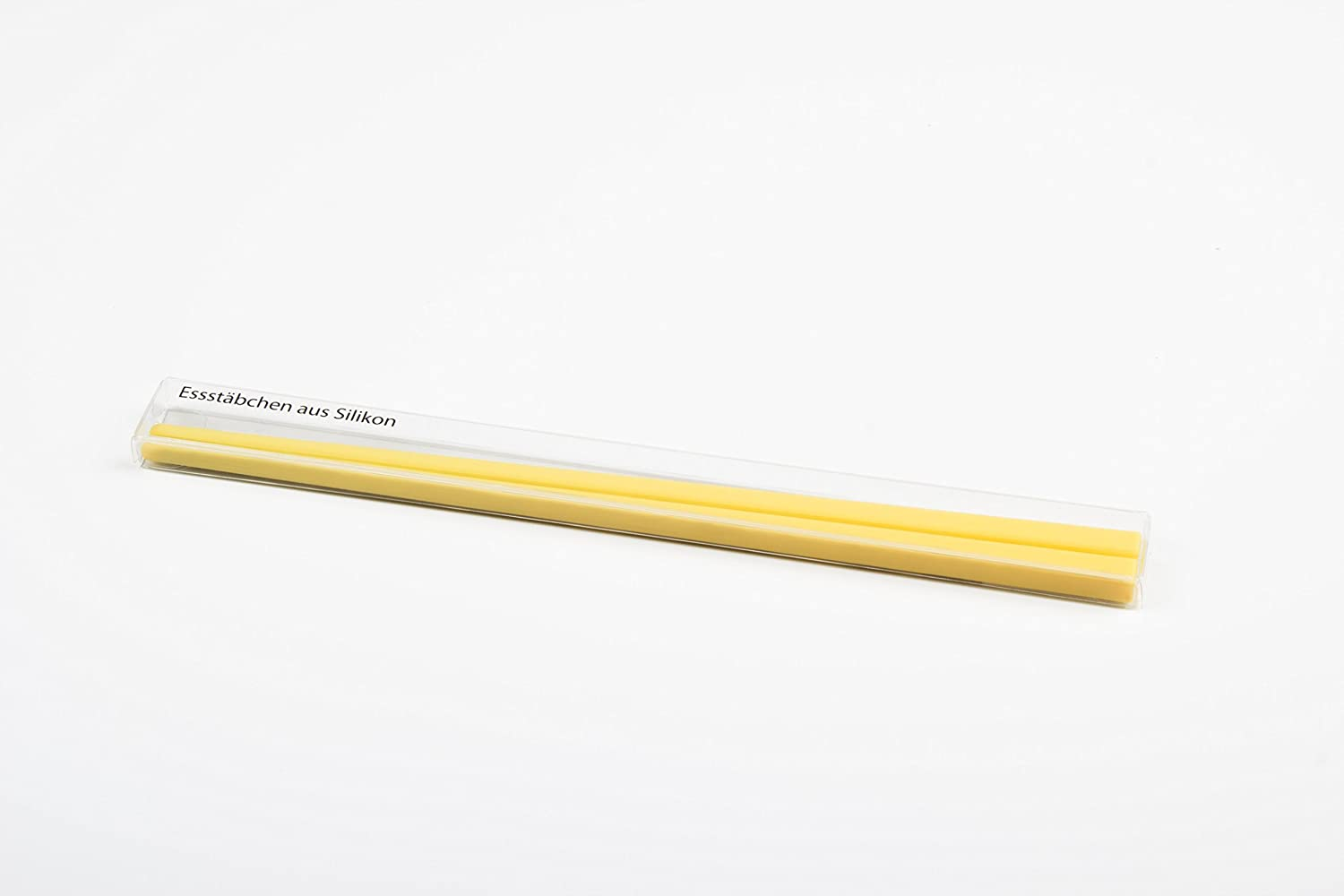 Chopsticks made of silicone, yellow, 21 cm long, 1 pair Sonstige