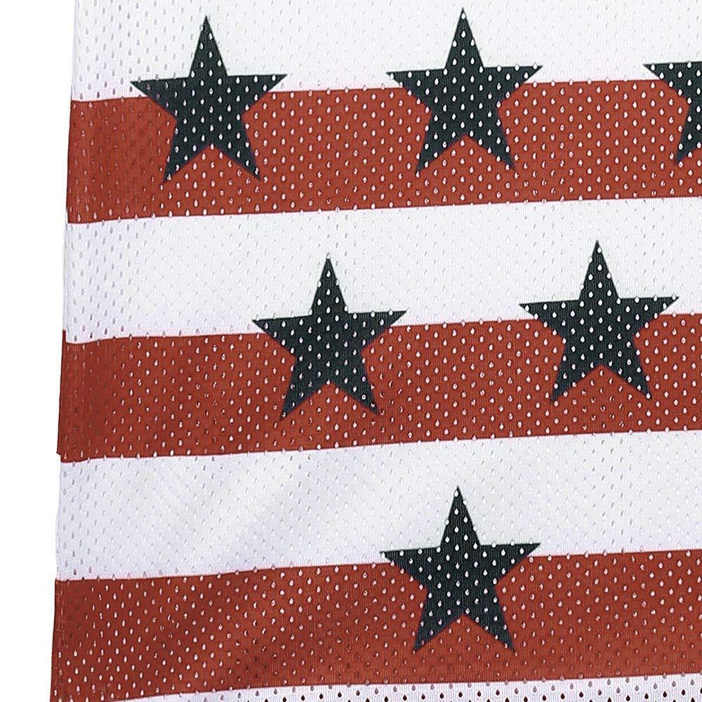 iCODOD Fashion Men Tank Tops Casual USA Flag Printed O-Neck Independence Day Sleeveless Shirt Daily Fashion Blouse