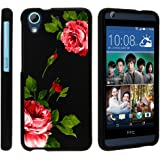 Miniturtle Desire 626 Case, HTC 626s Hard Case, Desire 650 Slim Cover] -[Snap Shell] 2 Piece Rubberized Hard Plastic Case - Affectionate Flowers