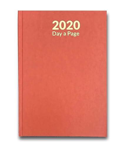 Agenda de un día por página, tamaño A4, 2020, con página ...