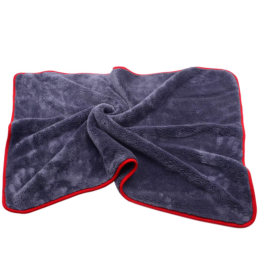 HAOTOM 900GSM Ultra-Thick Plush Microfiber Towel Car Cleaning Cloth Auto Wash Waxing Drying Polishing Detailing Towel Super Absorbent (36 in. x 24 in.Large Size)