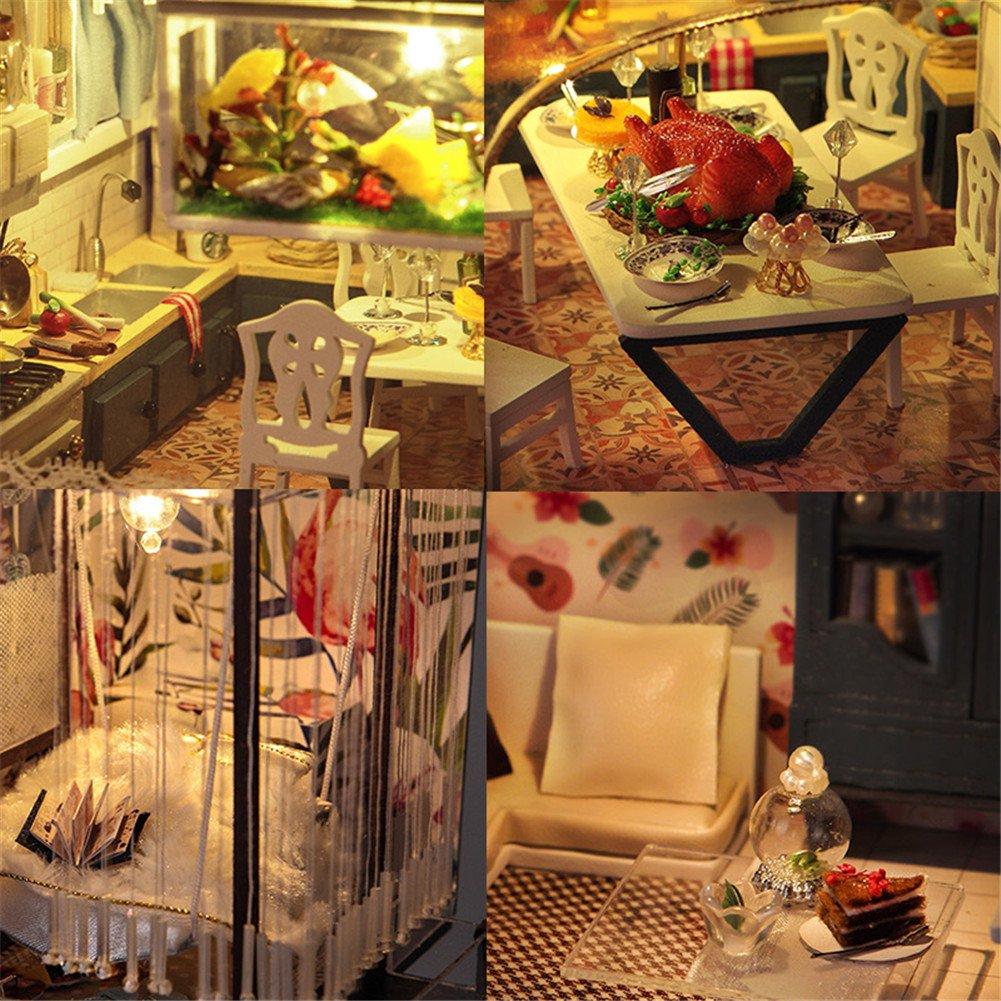 Puppenhaus DIY Haus mit Zubehör und Möbel Kreative Geburtstag ...