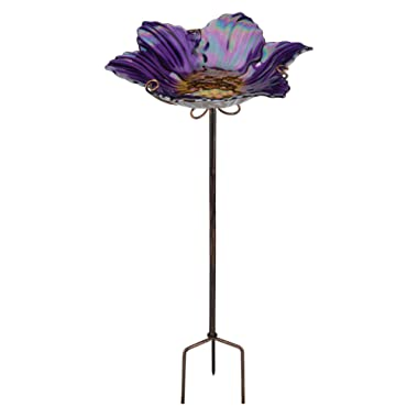 Regal Art &Gift Birdbath/Feeder with Stake, Purple