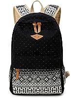 Canvas Backpack Casual Lightweight Laptop School Backpack Shoulder Bag Bookbags for Women & Girls