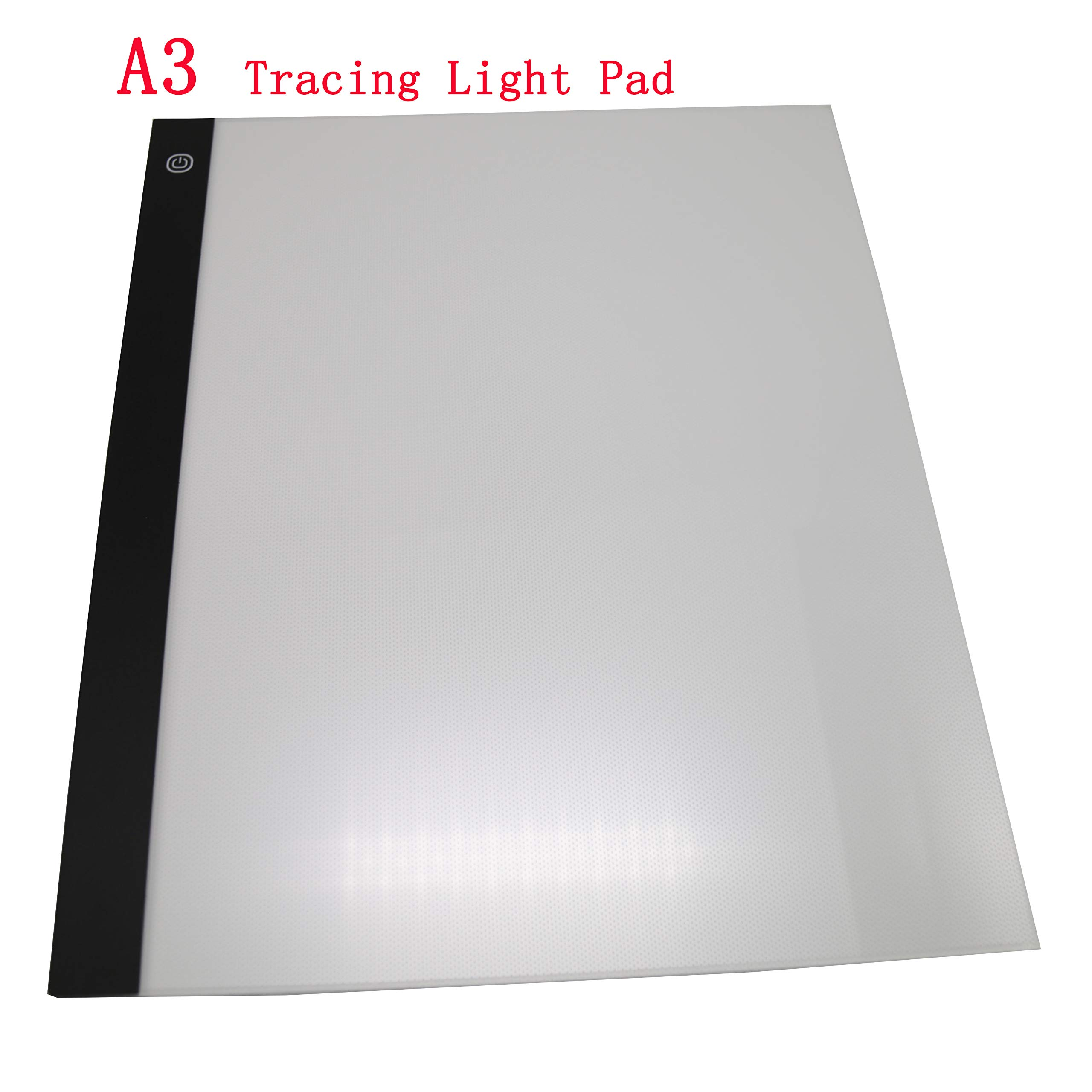 A3 Light Box, LED Artcraft Tracing Light Pad Ultra-Thin USB Power Cable Dimmable Brightness Tatoo Pad Animation, Sketching, Designing, Stencilling X-ray Viewing
