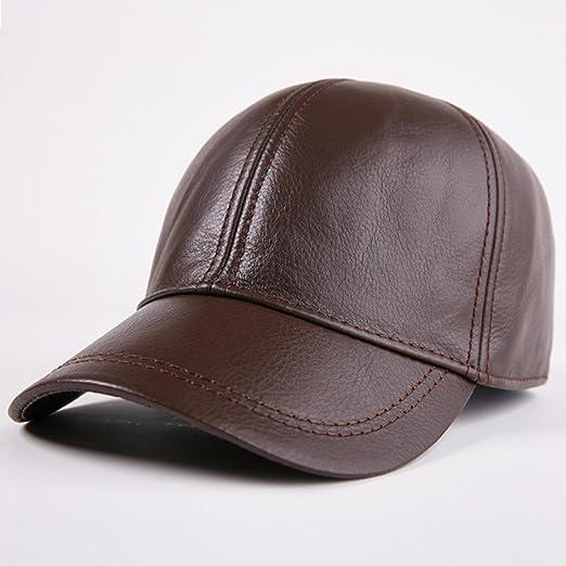W.Z.H.H.H Sombrero Sombrero de Cuero for Hombre Piel Sencilla ...