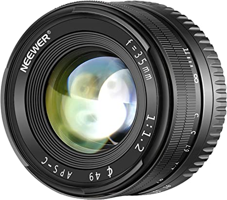 Neewer 35mm F1,2 Apertura Grande Prime APS-C Lente de Aluminio ...
