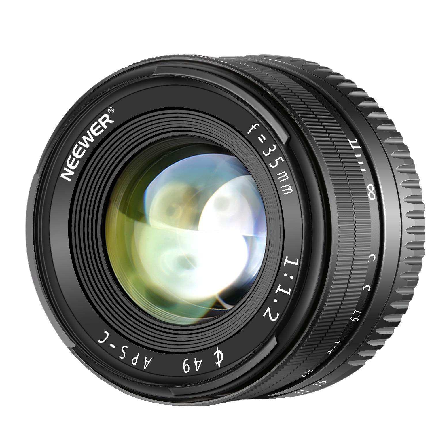 Neewer 35mm F1.2 Large Aperture Prime APS-C Aluminum Lens for Sony E Mount Mirrorless Cameras A7III, A9,NEX 3,3N,5,NEX 5T,NEX 5R,NEX 6,7,A5000,A5100,A6000,A6100,A6300,A6500 by Neewer