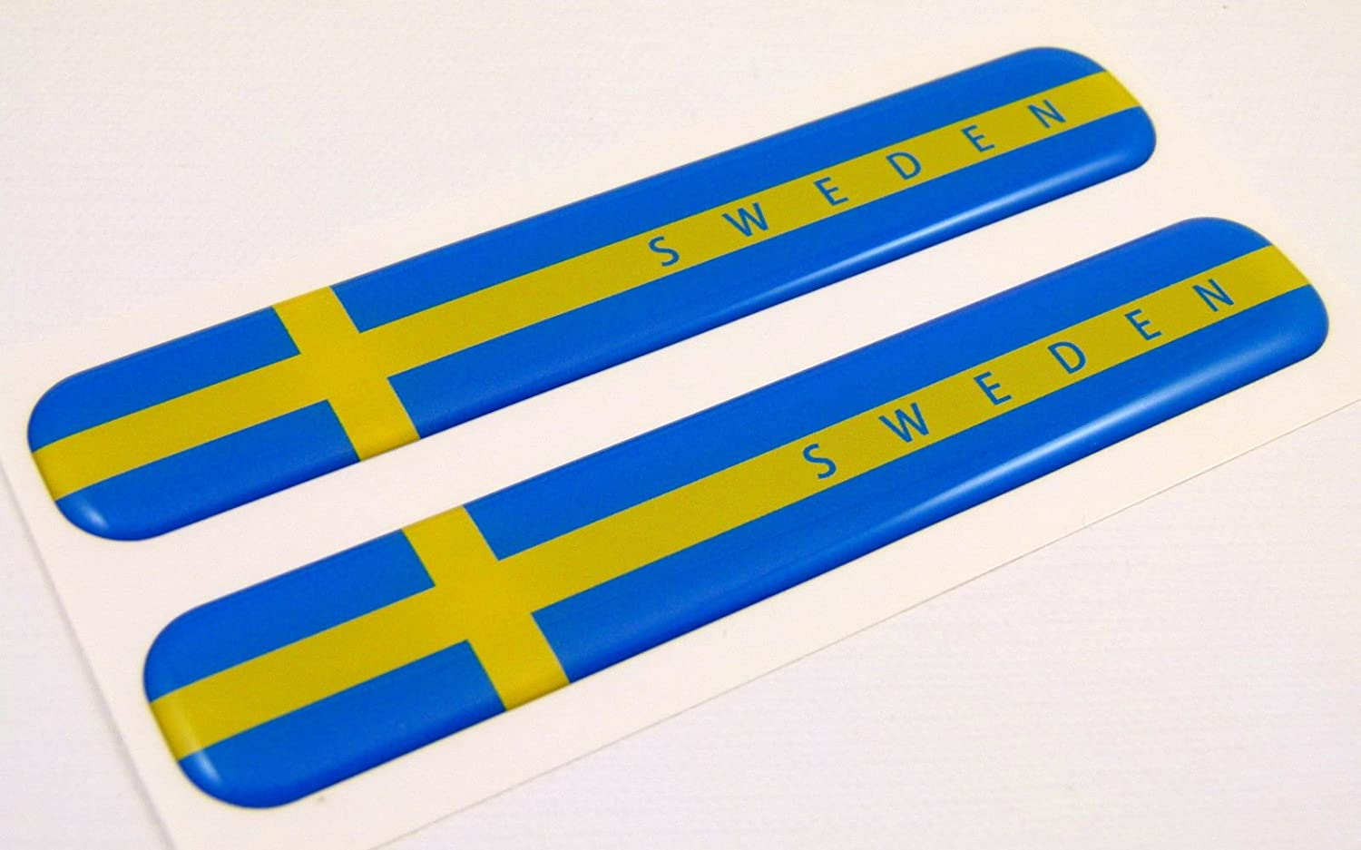 Car Chrome Decals Sweden Swedish Flag Domed Decal Emblem Resin car stickers 5x 0.82 2pc