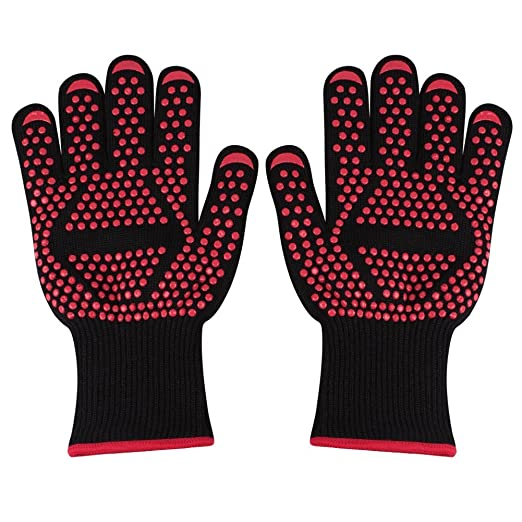 richoose 2pcs Guantes, guantes para barbacoa 932 °F Extreme ...