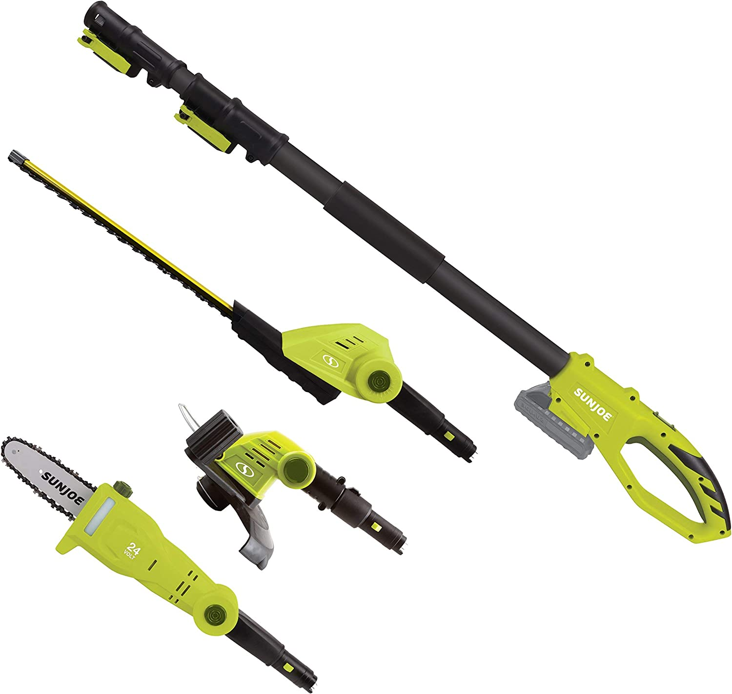 Sun Joe GTS4002C Cordless Lawn Care System-Hedge Trimmer, Pole Saw, Grass Trimmer Renewed