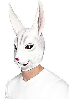 SmiffyS 44570 Careta De Conejo Cubre Toda La Cabeza, Blanco, Tamaño Único