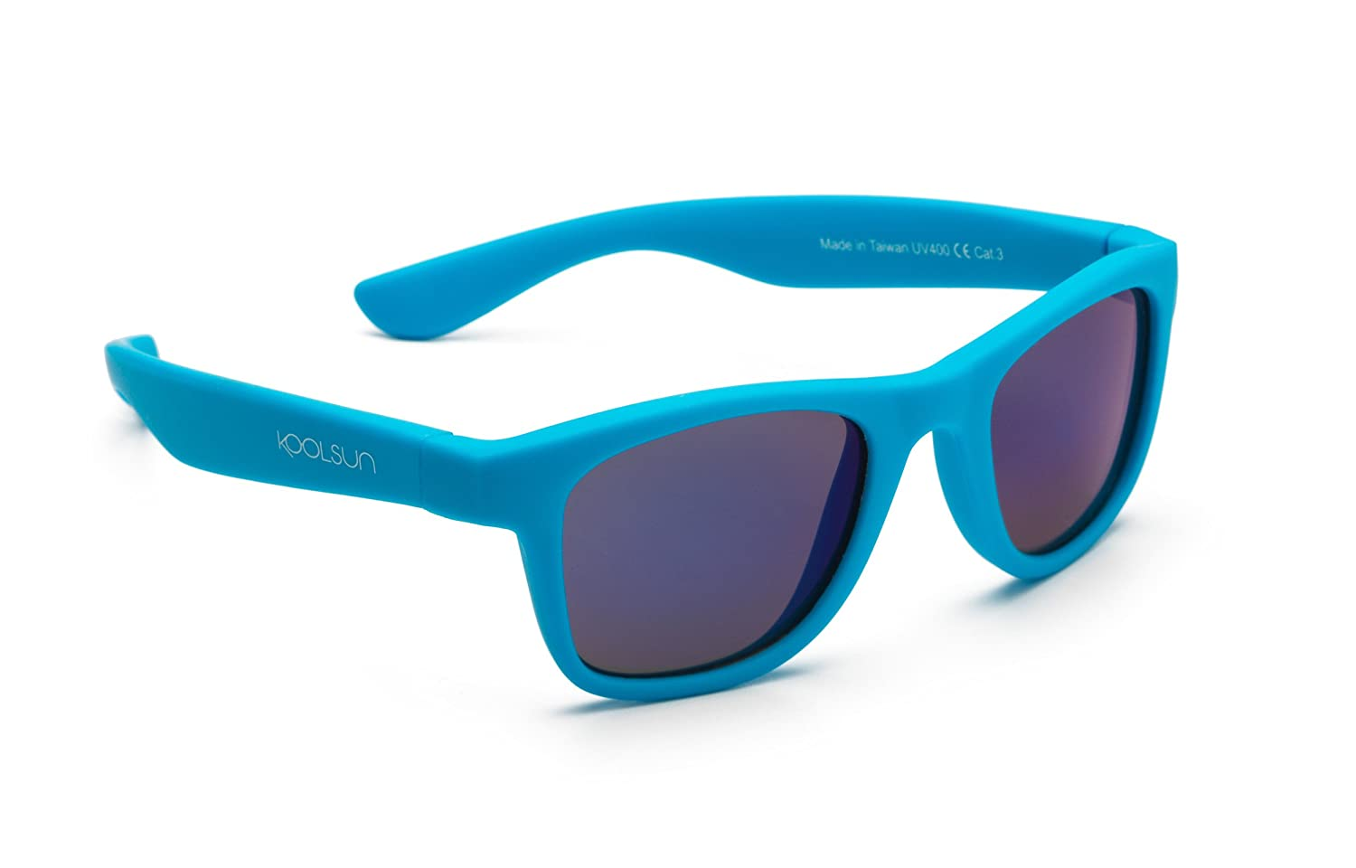 2b035d3dcba954 Koolsun Baby and Child Sun Wave Fashion 1 + Neon blue mirrored 100% UV  Protection
